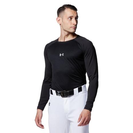 アンダーアーマー UNDER 当店は最高な サービスを提供します ARMOUR 人気 野球 アンダーシャツ 黒 フィットコンフォート 1364469 ロングスリーブ メンズ