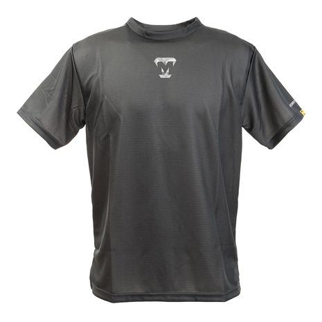 美津和タイガー mitsuwa-tiger 在庫処分 Tシャツ メンズ 半袖 プリント 新生活 スポーツ ウェア 一般 野球 MT7HSA69-090 モザイクタイガー