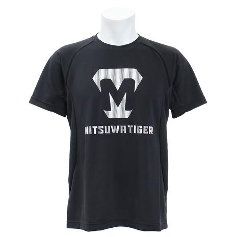 スーパースポーツゼビオ市場店 美津和タイガー 野球ウエア Tシャツ 買収 他Tシャツ mitsuwa-tiger Tシャツ 半袖 KSMTKS-055-090 ロゴプリント スポーツ 爆買いセール メンズ ウェア 野球 一般