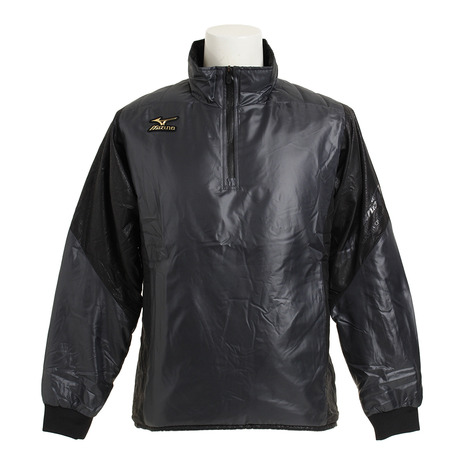 ミズノ(MIZUNO) ミズノプロ ブレーカーシャツ ハーフジップ 裏ブレスサーモ 中綿 12JE6V5408 (Men's)