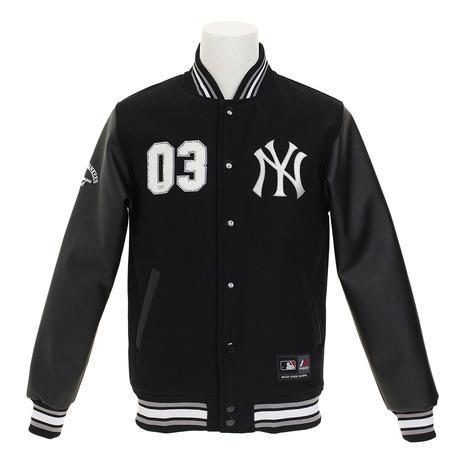 MAJESTIC 【ゼビオオンラインストア価格】ニューヨーク・ヤンキース PUレターマンジャケット MM23-NYK-0047- BLK5 (Men's)