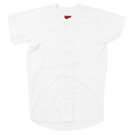 送料込 最新 エックスティーエス XTS 野球 ユニフォーム ジュニア 白 724G9ES4153 キッズ 練習着 フルボタンメッシュシャツ