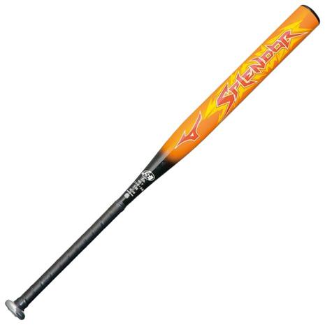 ミズノ(MIZUNO) ソフトボール用金属製バット スプレンダー 85cm/平均720g ゴム3号 1CJMS30585 5409 (Men's)