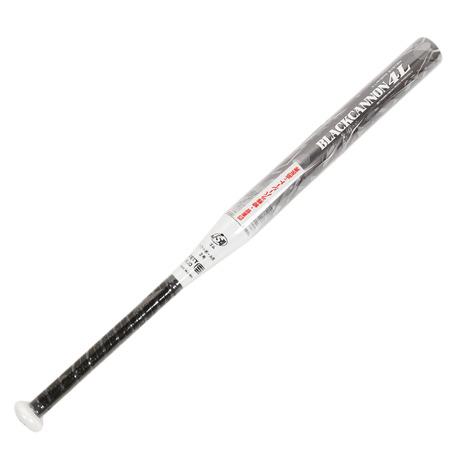 ゼット(ZETT) 少年ソフトボール2号用 FRP製バット ブラックキャノン4L 80cm/540g平均 BCT52880-1900 (Jr)