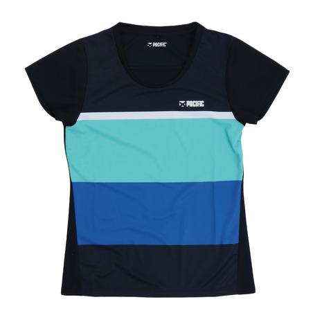 パシフィック PACIFIC テニス Tシャツ レディース NVMT DPSH 当店は最高な 年間定番 サービスを提供します PT20SW615 半袖