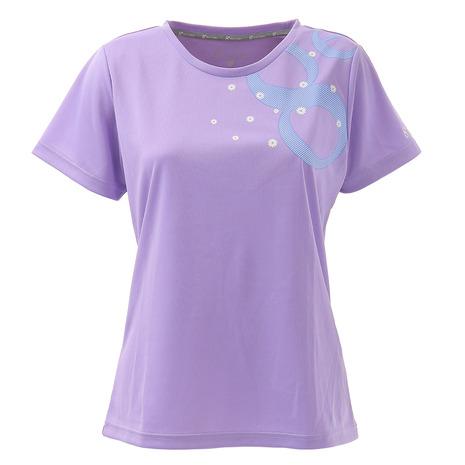 ウィッテム HUITIEME テニス Tシャツ 人気 レディース HU20S03LS733017LVD 半袖 再再販 UVカット 吸汗速乾
