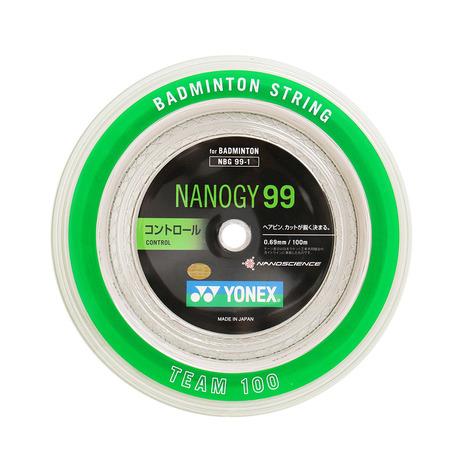 ヨネックス(YONEX) バトミントンストリング ナノジー99 ロール100m NBG99-1-011 (Men's、Lady's、Jr)