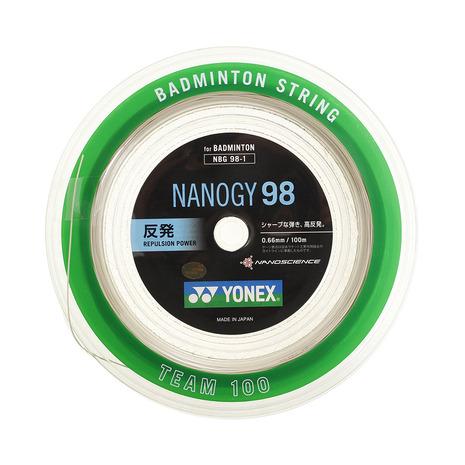 ヨネックス(YONEX) バドミントンストリング ナノジー98 ロール100m NBG98-1-528 (Men's、Lady's、Jr)