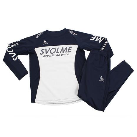 スボルメ(SVOLME) フットサルウエア メンズ レディース テックピステ 上下セット 183-82109WH (Men's)