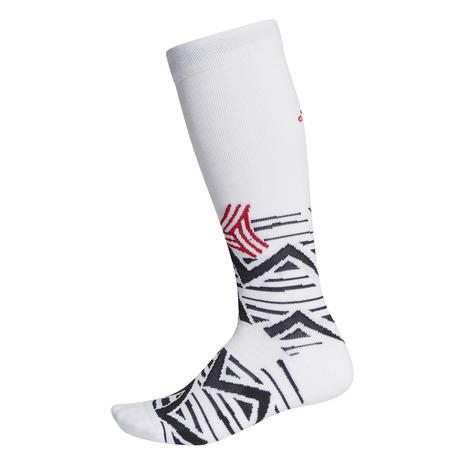 アディダス(adidas) サッカー ソックス ALPHASKIN グラフィック クッションド クルーソックス ストッキング GMB54-FI9349 靴下 (メンズ)
