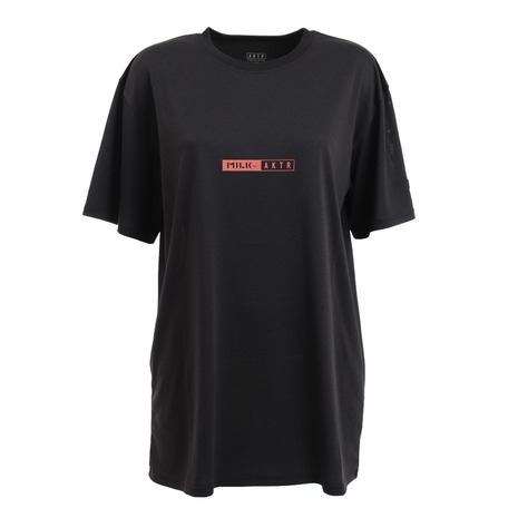 アクター AKTR バスケットボールウェア BOTANICAL 特別セール品 BALL 海外並行輸入正規品 SPORTS レディース 121-066005 半袖Tシャツ BK