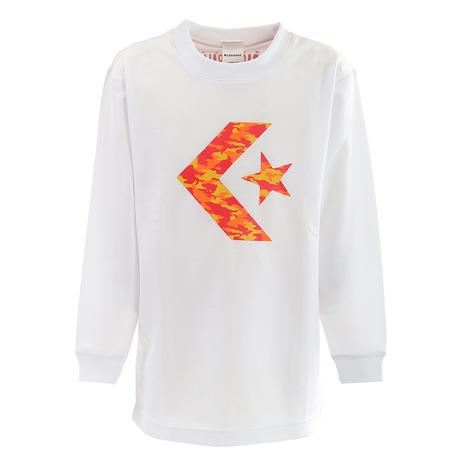 スーパースポーツゼビオ市場店 コンバース バスケットウエア Tシャツ 長袖Tシャツ CONVERSE 日時指定 多少の傷汚れありの為大奉仕 Tシャツ CBA462306L-1164 購買 プリントロングスリーブシャツ ジュニア キッズ 長袖
