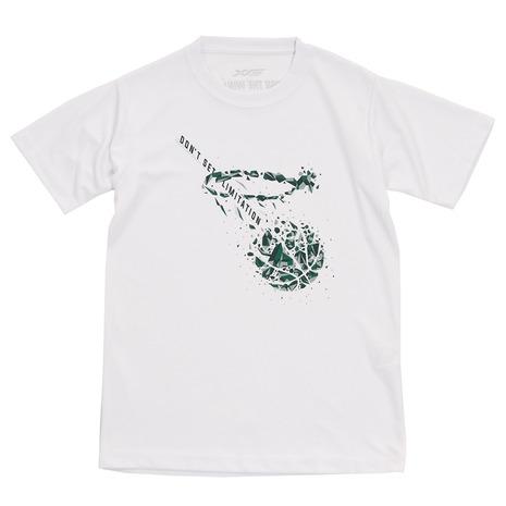 エックスティーエス XTS Tシャツ ジュニア 半袖 DON'T 授与 SET ファッション通販 LIMITATION キッズ ドライ WHT ウェア バスケットボール 吸汗速乾 751G0CD8238