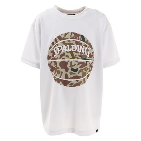 スポルディング SPALDING オーバーのアイテム取扱☆ ジュニアTシャツ ボーラーカモ キッズ バスケットボールウェア 直営店 SJT210510WH