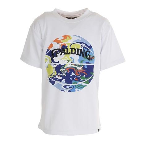 スポルディング SPALDING 激安卸販売新品 Tシャツ 今だけ限定15%OFFクーポン発行中 ジュニア 半袖 ウォーターマーブルボール ウェア キッズ WM バスケットボール SJT200620