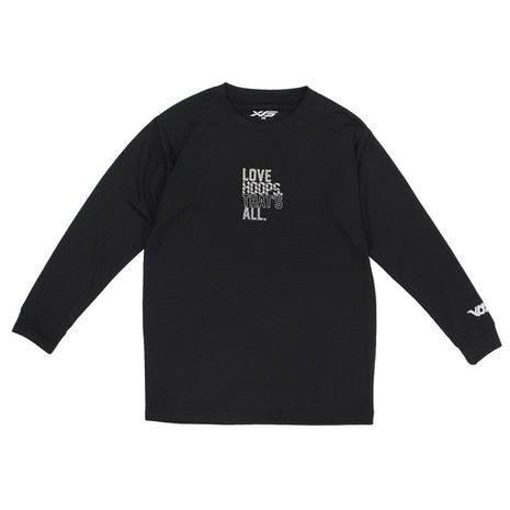 エックスティーエス XTS ジュニア ドライ 吸汗速乾 定番の人気シリーズPOINT ポイント 入荷 公式 バスケットボールウェア キッズ 751G0CD1647 長袖Tシャツ BLK