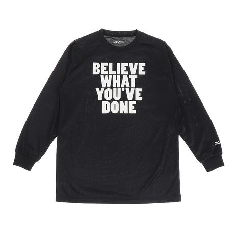 エックスティーエス XTS ジュニア 中古 ドライ 吸汗速乾 751G0ES1638 キッズ BLK 長袖Tシャツ 公式ショップ バスケットボールウェア