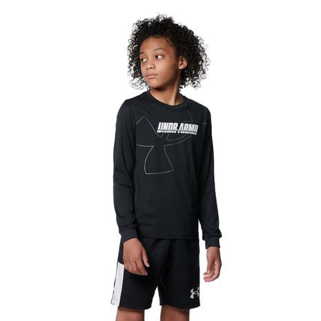 注文後の変更キャンセル返品 アンダーアーマー UNDER ARMOUR バスケットボールウェア ジュニア テック Tシャツ 001 ロングスリーブ 大幅にプライスダウン キッズ 1368975