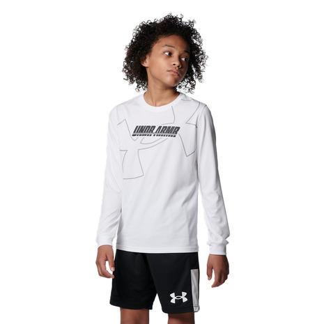 アンダーアーマー UNDER ARMOUR バスケットボールウェア ジュニア テック ロングスリーブ 期間限定今なら送料無料 キッズ 100 1368975 日本正規代理店品 Tシャツ