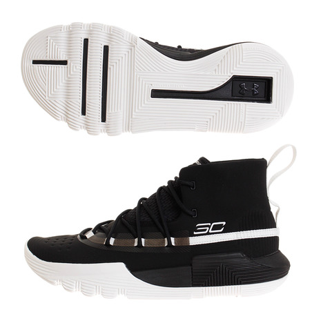 アンダーアーマー(UNDER ARMOUR) SC 3ZER0 2 #3020613 BLK/WHT/WHT BK バッシュ (Men's)