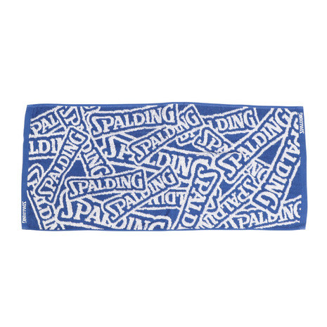 スポルディング SPALDING ジャカードタオル SDロゴ 待望 ブルー SAT211030 専門店 キッズ メンズ レディース