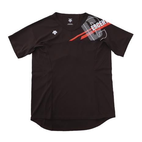 送料無料 新品 デサント DESCENTE バレーボールウェア 半袖プラクティスシャツ DVWSJA50 レディース 高品質 BK