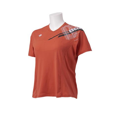 デサント DESCENTE バレーボールウェア 半袖プラクティスシャツ DVWSJA50 レディース 未使用 中古 OR