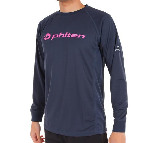 ファイテン 新作からSALEアイテム等お得な商品 満載 PHITEN RAKUシャツ スムースドライ 3120JG35500 信用 メンズ NVPK