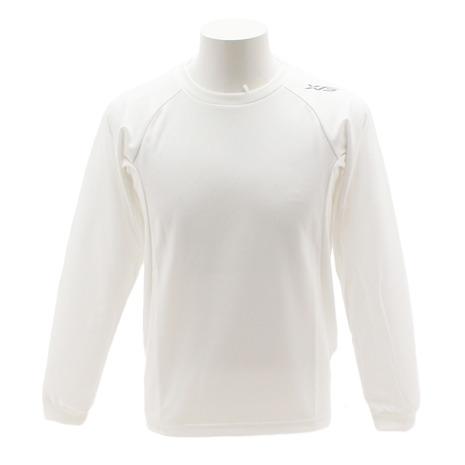 店内限界値引き中&セルフラッピング無料 エックスティーエス XTS Tシャツ メンズ 長袖 WHT 771G8ES1000 チープ ドライプラス 陸上エンボス