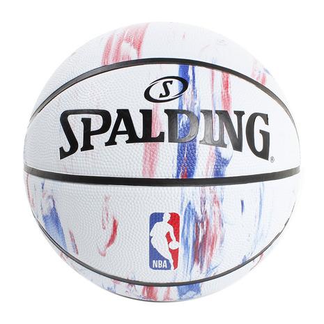スーパースポーツゼビオ市場店 スポルディング ボール バスケットボール バスケット7号練習球 SPALDING 7号球 一般 大学 高校 セットアップ SALE開催中 男子用 レディース キッズ マーブル7 自主練 メンズ 中学校 NBAロゴ 83-934J