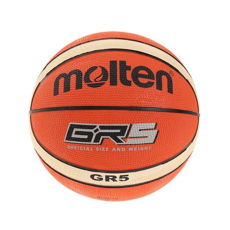 スーパースポーツゼビオ市場店 モルテン ボール 25%OFF バスケットボール バスケット5号練習球 molten 5号球 GR5 キッズ ジュニア 小学校用 BGR5-OI 自主練 ディスカウント
