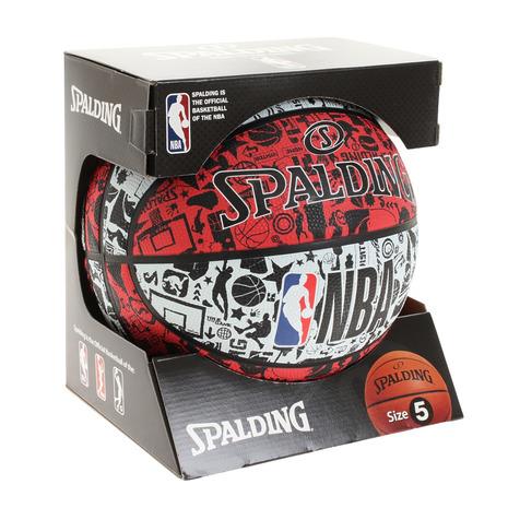スポルディング SPALDING お値打ち価格で 高品質新品 バスケットボール 5号球 キッズ 自主練 84-194J グラフィティ
