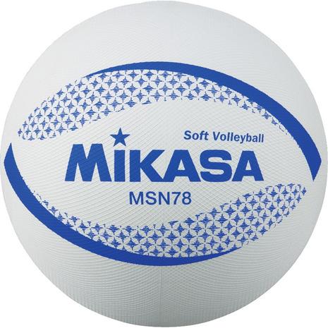 ミカサ MIKASA カラーソフトバレーボール 自主練 キッズ MSN78-W 割引も実施中 メンズ マーケット レディース