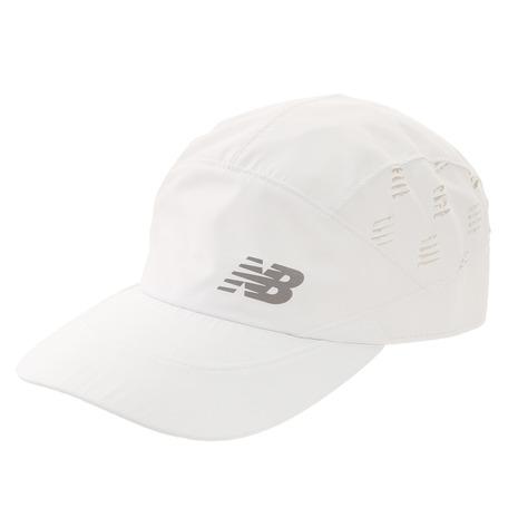 ニューバランス 春の新作シューズ満載 new balance ランニングパンチングメッシュキャップ 帽子 JACR0610WT 高い素材 レディース