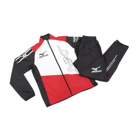 ミズノ(MIZUNO) 陸上競技 N-XT ウィンドブレーカースーツ U2ME/U2MF 751096 RED (Men's)
