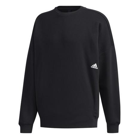スウェット 上 メンズ  アディダス(adidas) マストハブ ワーディング クルースウェット長袖シャツ IXG23-GE0363 オンライン価格 (メンズ)