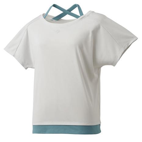 フェイクレイヤード 半袖Tシャツ DMWQJA53 WH (レディース)