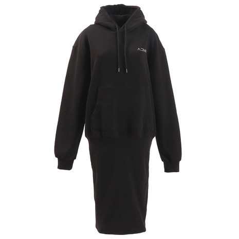 RVCA INSIDEOUT HOOD DRESS パーカー AJ044014 BLK (Lady's)