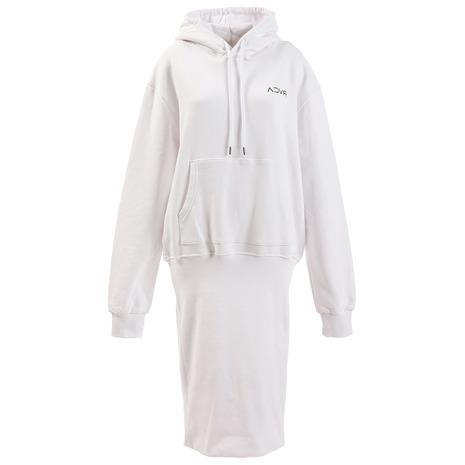 RVCA INSIDEOUT HOOD DRESS パーカー AJ044014 WHT (Lady's)