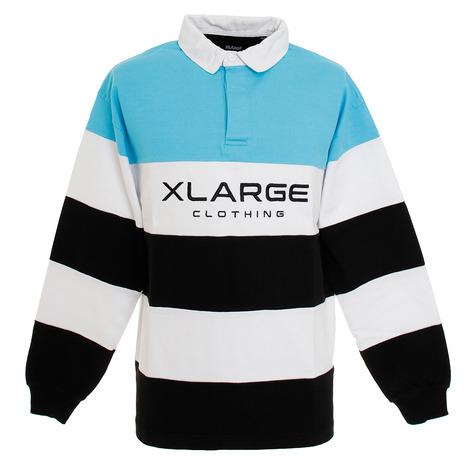 エクストララージ PANELED ラグビーシャツ 01201305-LBLU (Men's)