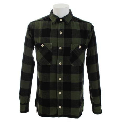 桃太郎 ヘリンボーン ブロックチェックシャツ 05-187G (Men's)