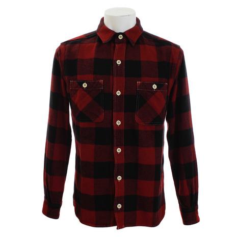桃太郎 ヘリンボーン ブロックチェックシャツ 05-187R (Men's)