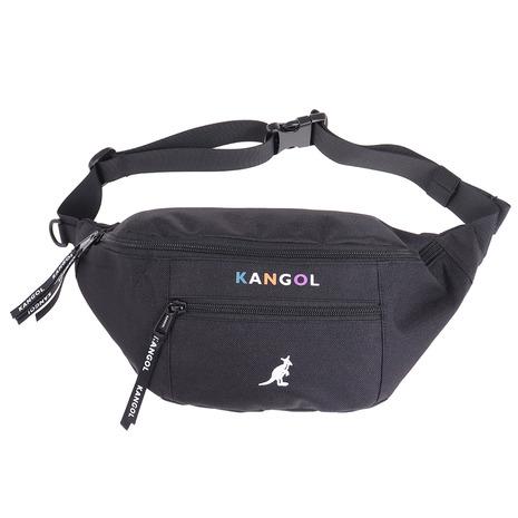 人気ショップが最安値挑戦 カンゴール KANGOL ウエストバック 海外輸入 KGSA-BG00093 レディース BLK メンズ