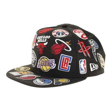 ニューエラ NEW WEB限定 ERA 9FIFTY 休み チームロゴオールオーバー 12853868 メンズ キャップ NBA