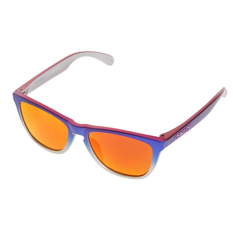 オークリー(OAKLEY) FROGSKINS SPLATTER FADE COLLECTION PKBLFDSIL/PZMRB サングラス 92458254 (Men's、Lady's)