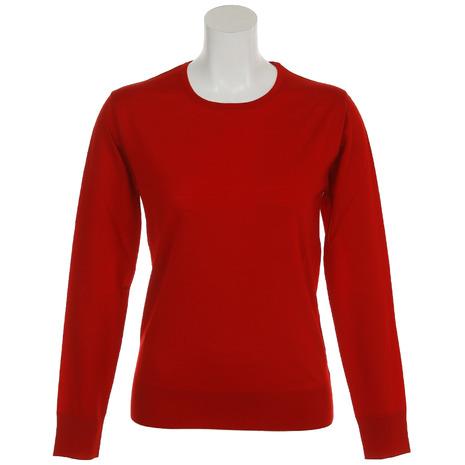 サマス(SAMAS) ゴルフウェア レディース CREW NECK L/slv GNC-D02 RED (Lady's)