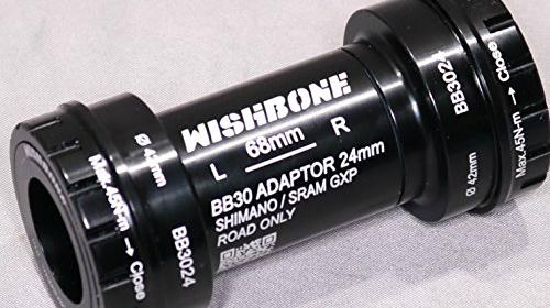 ウィッシュボーン BB3024 音鳴り シマノホローテック2&スラムGXPクランク用 ロードバイクボトムブラケット 圧入式