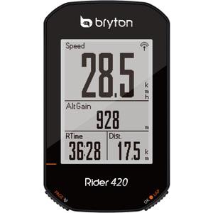 bryton(ブライトン) Rider420T (ライダー420T) ケイデンスセンサー・心拍センサー付 TB0F0R420TBLK 【サイクルコンピューター】【サイコン】【サイクルメーター】【送料無料】
