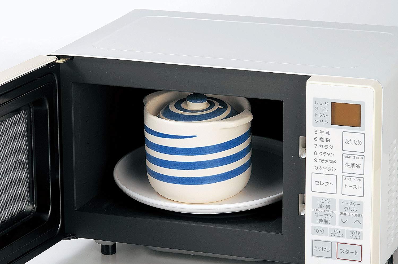 電子レンジ炊飯器 セラクック(二重蓋) 黒釉とうずしお2色あり 1.5合 萬古焼 ご飯鍋 土釜 10-05 10-06 国産