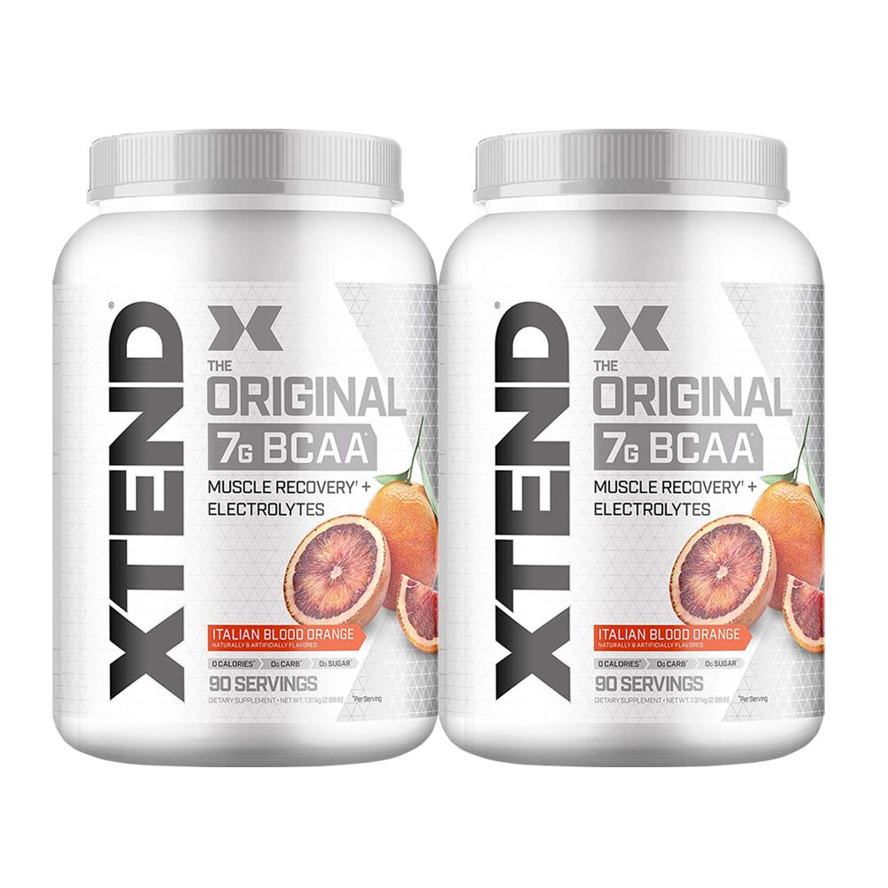 【2個セット】[大容量約1.2kg]エクステンド(BCAA+Lグルタミン+シトルリン)※ブラッドオレンジ